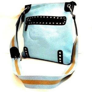 CHINESE LAUNDRY Blue Faux Pebbled Leather Hipster
